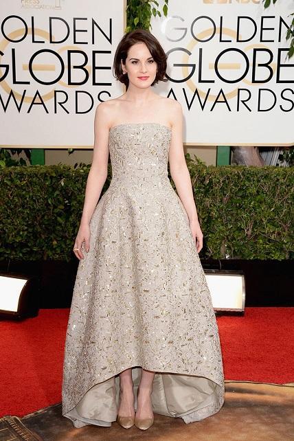 Michelle Dockery vestida de Oscar de la Renta